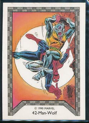 1990 Marvel Spider-Man Team-Up Trading Card #42 Man-Wolf