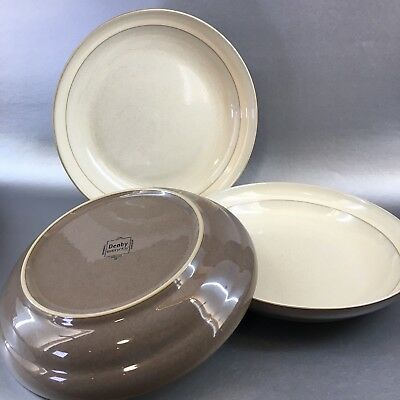 """1 Of 3 Denby Cappuccino 7"""" Wide Rim Soup or Cereal Bowls England Pottery"""