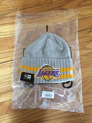 2970fac6d LOS ANGELES LAKERS Knit Beanie Hat Ski Cap Gold Cuffless Youth Size ...