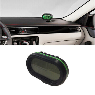 In/Out Digital LCD Auto Car Temperature Thermometer &Clock Voltage Meter Monitor