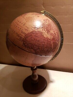 """Replogle Genuine Leather 12""""  Globe, beautiful and in excellent condition"""