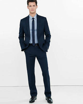 NEW EXPRESS MENS $128 NAVY SLIM MICRO TWILL SUIT PANT SZ 32//32