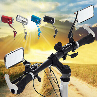 1 Pair Aluminum Bicycle Mirrors For Handlebars End Rear Rearview Bike View Glass