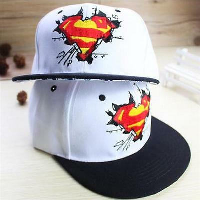 Men's Fashion Graffiti Superman Baseball Flat Caps Fashion Hip Hop Hat LI