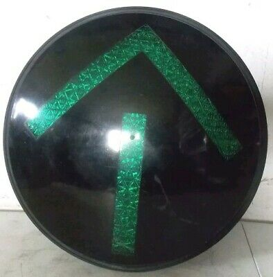 "12"" Green Arrow LED Traffic Light With Gasket.  Good cond..tested."