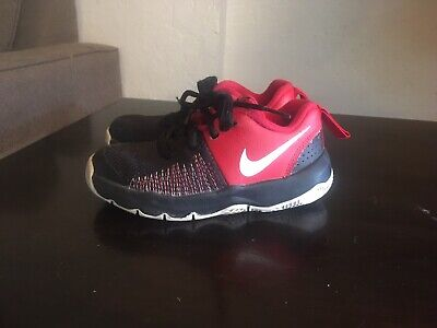 sports shoes 4b1da 5ee8a NIKE TEAM HUSTLE QUICK Toddler Boy Shoes  922681-002 Size 11c Black Red