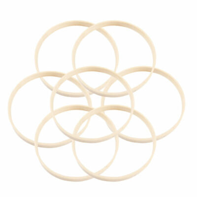 10pcs Bamboo Rings Wood Hand-made Round Dream Catcher Ring Hoop for Female Woman