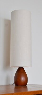 Mid Century  DANISH 'KHARBORG' teak table LAMP with NEW bespoke shade