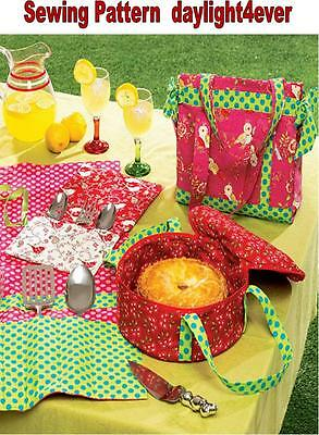 PICNIC FOOD TOTE Casserole Carrier Insulated Potluck Lunch Basket