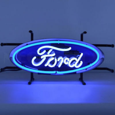Ford Oval Neon Light Sign With Backing By Neonetics 17″ x 8″ x 6″