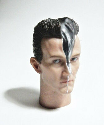 1/6 Hot Toys Battle Damaged Terminator T 1000 Head Sculpt for genisys sideshow