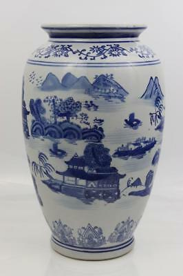 Antique 19th Century Chinese Hand Painted Large Vase 30x19cm Weighs 2kg Superb