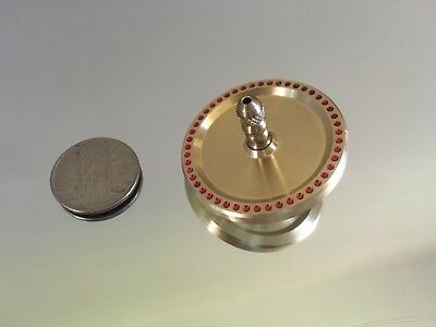 Brass spinning top with ceramic bearing and index drill design (over 7 min spin)
