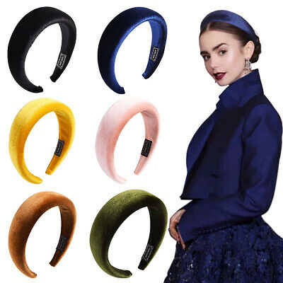 Women's Velvet Headband Hairband Padded Wide Hair Hoop Accessories Headpiece