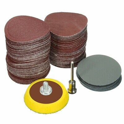 100Pcs 1'' Sanding Discs + Hook And Loop Sander Backing Pad 1/8 inch Shank  ❤