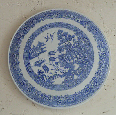 Large Spode China WILLOW Cake Plate 29 cm Blue & White F1683 T