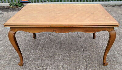 Louis XV Style French Carved Oak Extending Dining Table