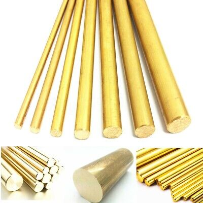 4/8/10/12mm Dia Brass Round Bar Hardware Circular Tube Machining Rod Lathe  ❤