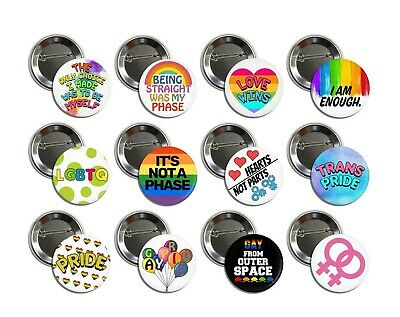 LGBT GAY Pride buttons (badges, pins, tees, tshirt,patches,love wins, trans)