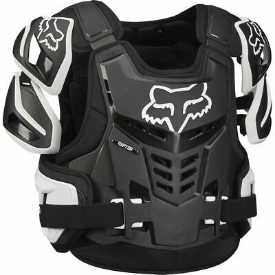 Fox Raptor Motocross Off road Race Body Armour Black Adult Size S/M or L/XL