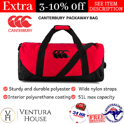 Canterbury Sports Bag Gym Duffle Bag Womens Packaway Bag The Luggage Travel Bag