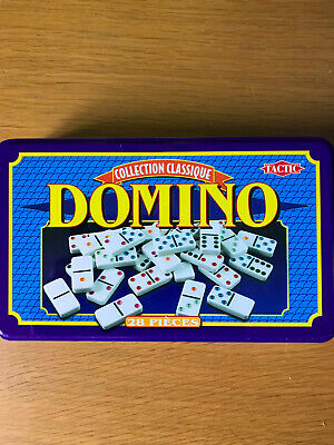 28 pcs Double Six 6 Dominoes Set Tin Box Traditional Travel Game Toy Fun Classic