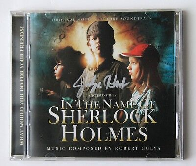 In the Name of Sherlock Holmes soundtrack CD Robert Gulya SIGNED autograph promo