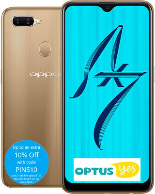 "Oppo AX7 Optus Prepaid 6.2"" 64Gb/4GB 16MP Front Cam 2 YRS AU Warranty"
