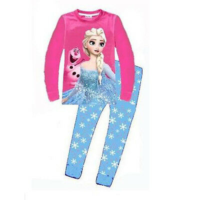 Girls Frozen Elsa Long sleeves pajamas 100% cotton Au stock size2,3,6