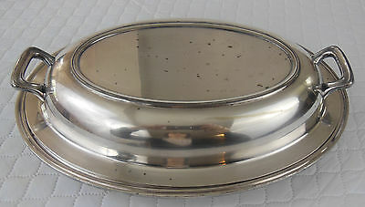 Antique Towle Epns Silverplate Footed Covered Dish Made In Usa
