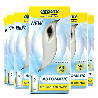 6 x Airpure Automatic Air Freshener Unit Machine Home (Airwick Compatible)