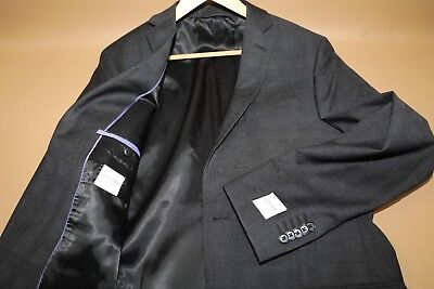 #304 SPURR New York Gray Blazer Suit Jacket Size 42 L  100% wool made in Canada
