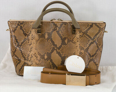 ee10f0d6792151 CHLOE BROWN MULTICOLOR Leather and Suede Small Drew Bag - $1,130.00 ...