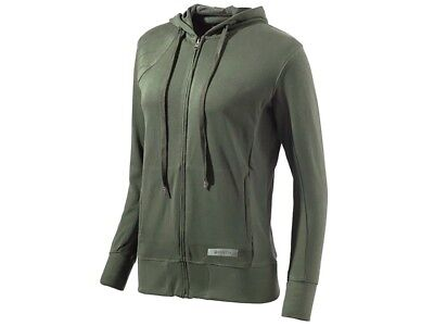 53f8ffd17 Beretta Womens XL Corporate Patch Sweatshirt Full Zip Cotton Army Green  New/Tags