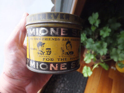 Antique Vintage Tin Can - 1 lb MIONE Soap For Hands Darby PA