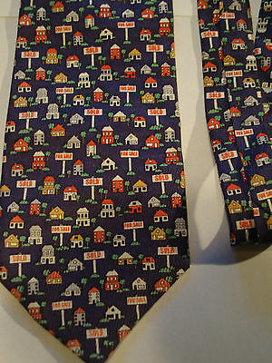 For Sale Sold Houses Homes Lots Tie Real Estate Property Signs Novelty Necktie