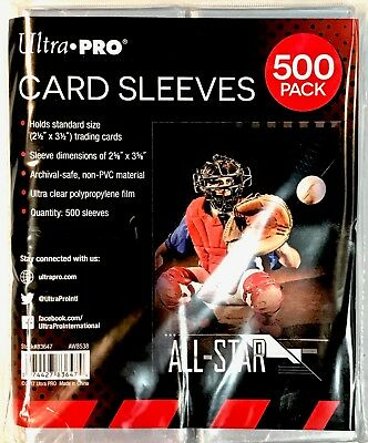 500 ULTRA PRO Soft Card SLEEVES Acid Free STANDARD size - Fits Regular Cards