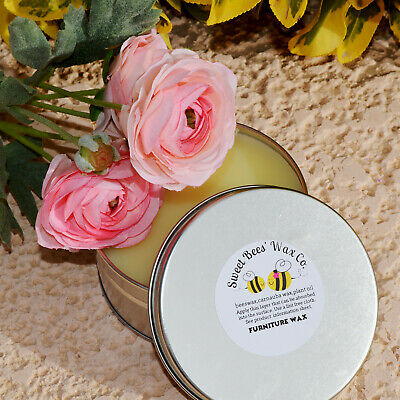 Natural Furniture Wax Rose Scent 4oz Beeswax Finish For Sealer on Chalk Paints