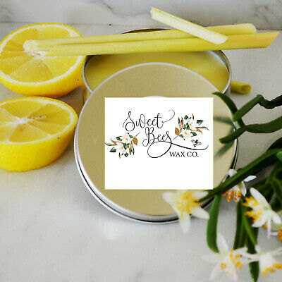 8oz Lemongrass Scent All Natural Paste Wax For Bare Wood Furniture Painted Woods