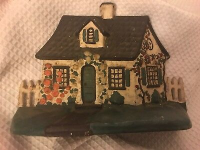 Antique HUBLEY 32 Cottage House On Cape DOORSTOP Cast Iron