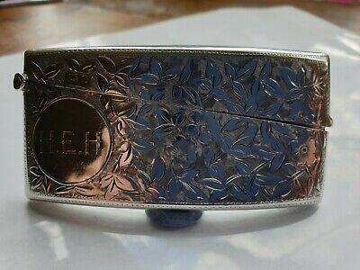 SOLID SILVER CALLING  -  BUSINESS CARD CASE 1927 Birmingam