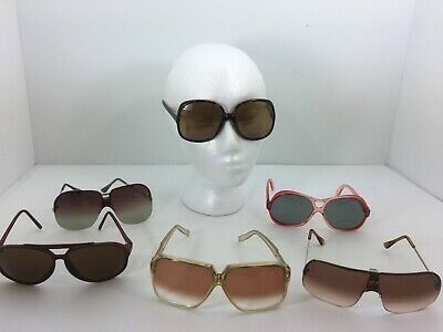 Lot of 6 pair of Vintage 1980s Sunglasses Foster Grant Cool Ray- LOOK