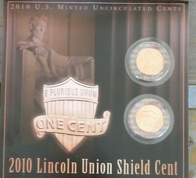 2010 P & D 1 U.s.mint Uncirculated Shield Lincoln 2-Coin Set Last One!