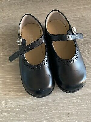 eb70ddb318f06 Start Rite Navy Leather Patent Tea Party Girls Buckle Shoes Size 9.5G