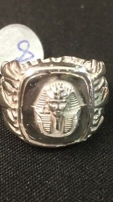 Rare  Egyptian Pharaoh Lotus Sterling Silver Ring Size 10