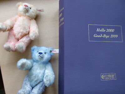 "Steiff Teddy Set  "" Hello 2000 Good-Bye 1999 "", OVP, 2 Bären"