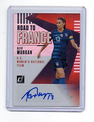 97145c56a2d 2018-19 Donruss Soccer Alex Morgan Auto Foil Road To France Usa Women s Team