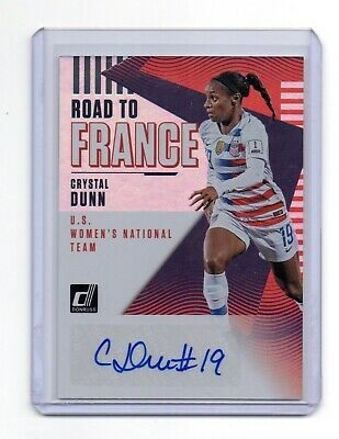 6d4e2ee7c 2018-19 Donruss Soccer Crystal Dunn Road To France Women s Usa Auto