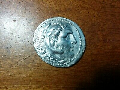 Ancient Greek Silver Tetradrachm Alexander The Great 15.9 Grams 31 mm