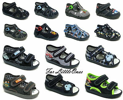 Boys canvas shoes trainers infants kids sandals slippers size 3 - 9UK